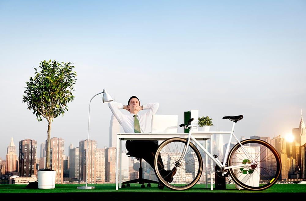 De fiets van de zaak